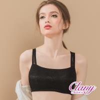 Clany 可蘭霓 訂製平面蕾絲涼感無鋼圈M-2XL內衣(低調黑 6938-63)