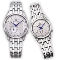 Olympia Star 奧林比亞之星-經典都會系列情人對錶(都會銀)58072-07MS+58072-07LS