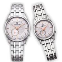 Olympia Star 奧林比亞之星-經典都會系列情人對錶(品味白)58072-07MS+58072-07LS