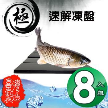金德恩  84x59cm 排水槽設計自然急速解凍盤 八入組