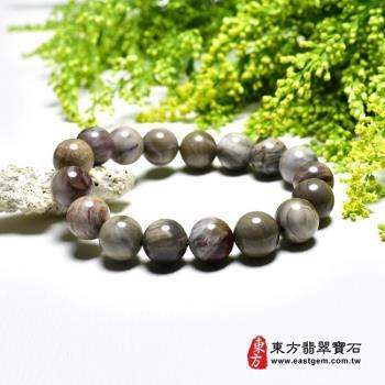 木化石手鍊、樹化玉手鍊(木化石珠子、樹化玉珠子,珠徑約12mm,17顆珠,OWO028)  。【東方翡翠寶石】