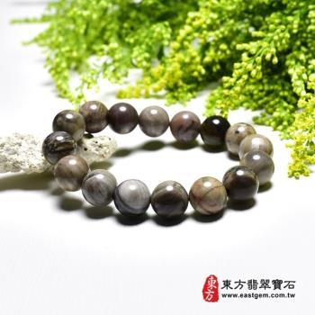 木化石手鍊、樹化玉手鍊(木化石珠子、樹化玉珠子,珠徑約12mm,16顆珠,OWO026) 。【東方翡翠寶石】
