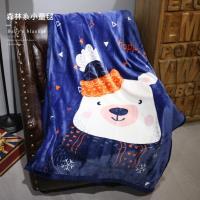 R.Q.POLO 輕柔保暖森林系小童毯-100x140cm(可愛小白熊)