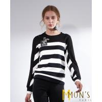 MONS經典個性黑白條紋造型上衣