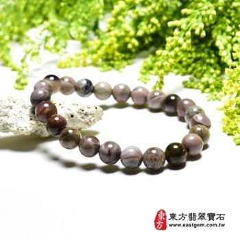 木化石手鍊、樹化玉手鍊(木化石珠子、樹化玉珠子,珠徑約8mm,23顆珠,OWO075) 。【東方翡翠寶石】