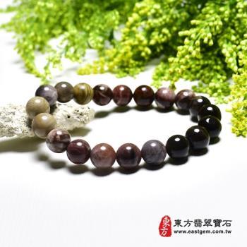 木化石手鍊、樹化玉手鍊(木化石珠子、樹化玉珠子,珠徑約10mm,20顆珠,OWO055)  。【東方翡翠寶石】