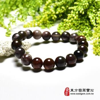 木化石手鍊、樹化玉手鍊(木化石珠子、樹化玉珠子,珠徑約10mm,19顆珠,OWO054)  。【東方翡翠寶石】