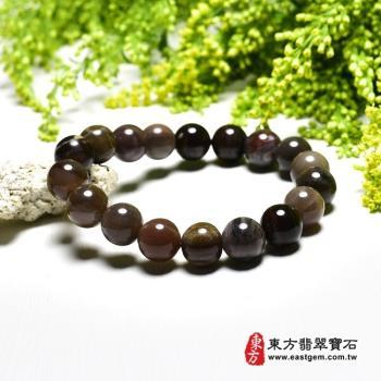 木化石手鍊、樹化玉手鍊(木化石珠子、樹化玉珠子,珠徑約10mm,18顆珠,OWO046)  。【東方翡翠寶石】