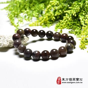 木化石手鍊、樹化玉手鍊(木化石珠子、樹化玉珠子,珠徑約10mm,18顆珠,OWO041)  。【東方翡翠寶石】