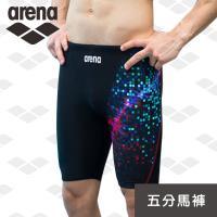 arena 限量 秋冬新款 訓練款 TMS8140M 男士 平口四角 大碼 舒適 抗氯速乾 時尚款 泳褲