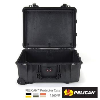 美國PELICAN1560NF輪座拉桿氣密箱-空箱(黑)