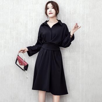 最水-浪漫赫本風收腰小圓裙洋裝