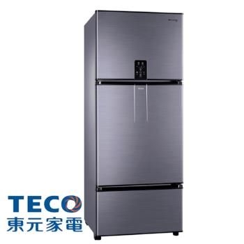 TECO東元610公升變頻三門冰箱(鈦空灰)R6181VXHS