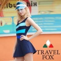 旅狐TRAVEL FOX 大女連身帶裙泳衣c18702