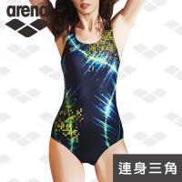 限量 秋冬新款 arena 訓練款 TMS8127W 女連體三角 修身顯瘦 泳裝 時尚印花 游泳衣