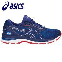 【asics 亞瑟士】GEL-NIMBUS 20 2E寬楦 男慢跑鞋 藍紅 T801N-400