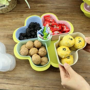 小麥桿環保系列 幸運水果盤 附水果叉