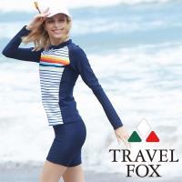 旅狐TRAVEL FOX  大女衝浪裝二件式泳衣c18718