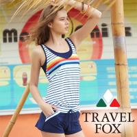 旅狐TRAVEL FOX  大女連身褲二件式泳衣-加大碼c18717