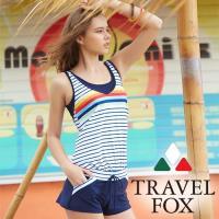旅狐TRAVEL FOX  大女連身褲二件式泳衣c18717
