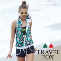 旅狐TRAVEL FOX 大女連身褲三件式泳衣C18714