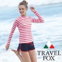 旅狐TRAVEL FOX 大女衝浪裝三件式泳衣C18705