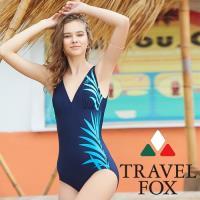 旅狐TRAVEL FOX 印花大女連身三角泳衣c18703