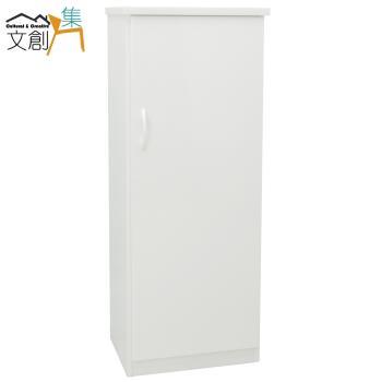 文創集-多亞 環保1.5尺塑鋼單門鞋櫃/玄關櫃-5色可選
