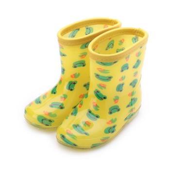 西松屋 可愛青蛙童雨鞋 黃 45201 中童鞋 鞋全家福