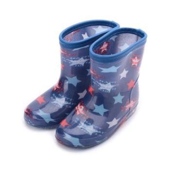 西松屋 點點星空童雨鞋 藍 45203 中童鞋 鞋全家福