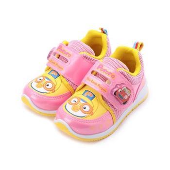 淘氣小企鵝 PORORO電燈運動鞋 粉 PRKX76003 中大童鞋 鞋全家福