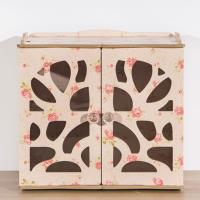 佶之屋 木質DIY桌面雙門小物收納架(4色)