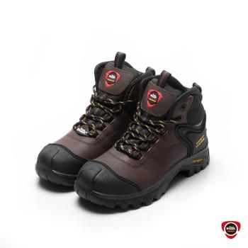 IronSteel T-124 健走型穩健舒適安全鞋-深咖