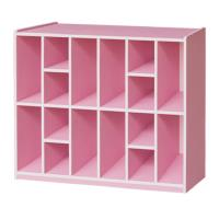 傢俱屋 格子趣8人份書包櫃 粉紅 天空藍