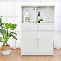 Birdie南亞塑鋼 2.9尺二開二抽塑鋼電器櫃 收納餐櫃 白色