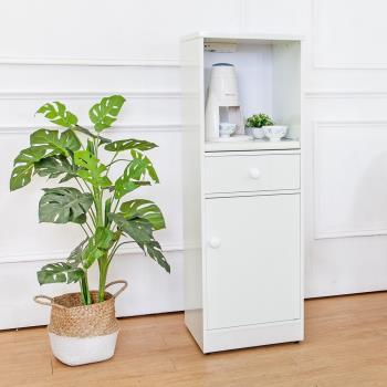 Birdie南亞塑鋼 1.4尺單門單抽塑鋼電器櫃 收納餐櫃 白色