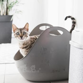LitterBox - 360°主子貓砂籃/高邊加大型貓砂盆(白色)