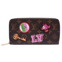 LV M63392經典Monogram花紋刺繡貼布拉鍊長夾
