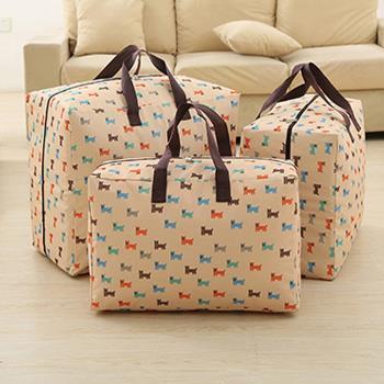 日式超耐重超密搬家收納袋/購物袋600D-5入