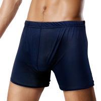 TIKU 梯酷 ~冰絲格紋涼感 平口男內褲 -深藍 (LP5101)