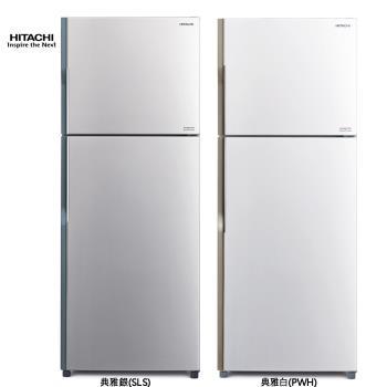 HITACHI日立414L 直流變頻雙門電冰箱(典雅白/典雅銀)RV439