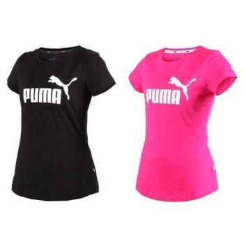 PUMA 女基本系列LOGO短袖T恤-短T 短袖上衣 純棉