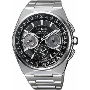 CITIZEN星辰 GPS定位對時光動能旗艦腕錶(灰x黑/45mm) CC9009-81E
