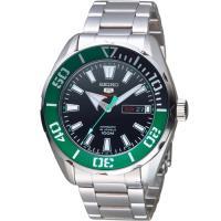 SEIKO精工5號復刻潮流機械腕錶 4R36-06S0M SRPC53J1  綠x銀