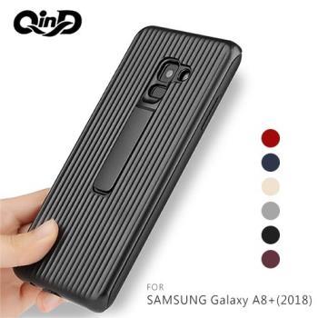 QinD SAMSUNG Galaxy A8+(2018) 獵鷹支架殼