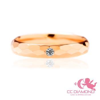 【CC DIAMOND】義大利進口 3分鑽石戒指 陵格紋對戒系列 18K玫瑰金