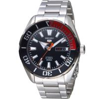 SEIKO精工5號復刻潮流機械腕錶 4R36-06S0D SRPC57J1 紅x銀