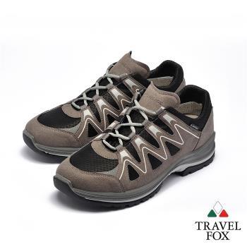 TRAVEL FOX(男) 山高氣高 歐洲進口耐冷熱防滑戶外登山鞋 - 氣波灰