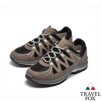 TRAVEL FOX(女) 山高氣高 歐洲進口耐冷熱防滑戶外登山鞋 - 氣波灰