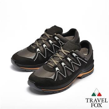 TRAVEL FOX(女) 山高氣高 歐洲進口耐冷熱防滑戶外登山鞋 - 能量黑